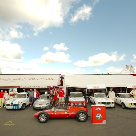 46th AvD-Oldtimer-Grand-Prix, Nürburgring: the lining-up of the Scuderia in the paddocks. Photo by Dario Pellizzoni.