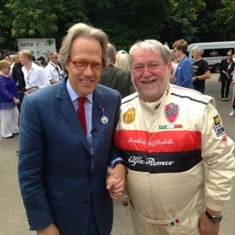 Goodwood Festival of Speed 2017, Marco Cajani and Lord March.