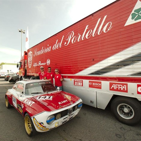 Vallelunga 2018: Roberto Arnaldi, who took part in the Alfa Revival Cup with an Alfa Romeo GTAM Group 5. Photo by Dario Pellizzoni.